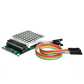 Display matriz de puntos LED 8×8 controlador MAX7219 Arduino