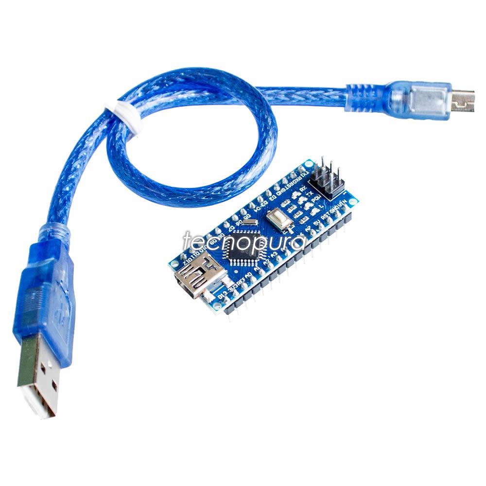 Arduino nano v atmega ch cable usb tecnopura
