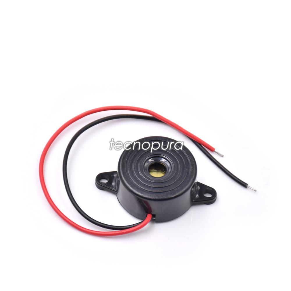Circuito Zumbador Piezoelectrico : Zumbador mediano buzzer alarma con sonido continuo de
