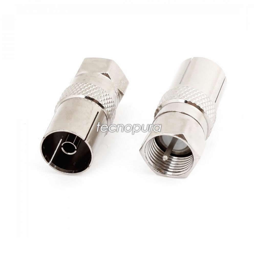 Convertidor Conector Coaxial F Macho Tipo Rosca A Iec