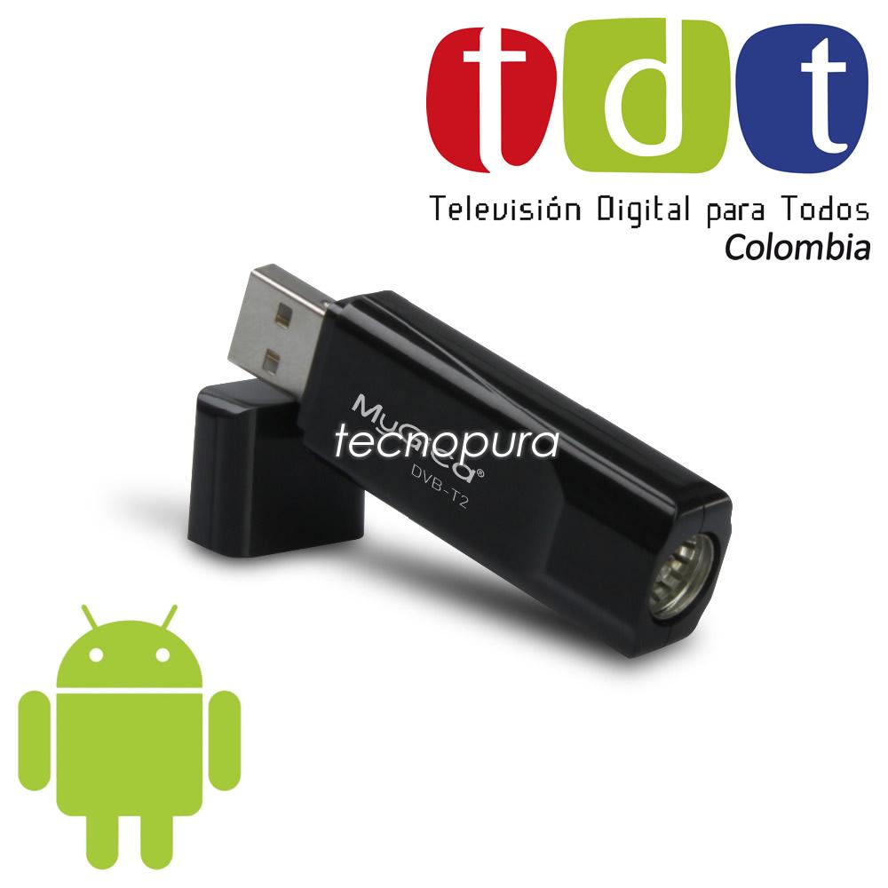 Decodificador antena tdt usb otg para celulares y tablets for Antena de interior para tdt