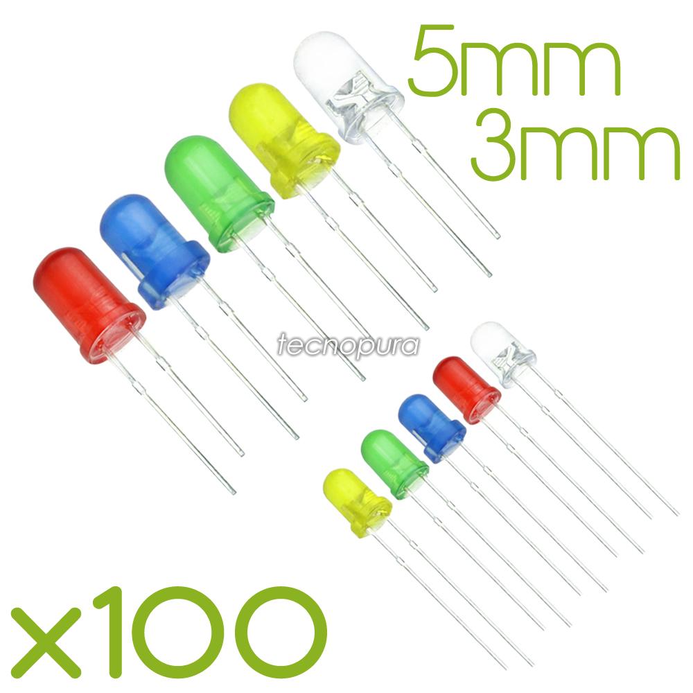 LED 5mm purweiss 4-19v difuso no necesita vorwiderstand 100 unidades precio de acción