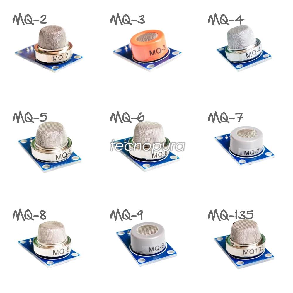 Kit X9 Módulos Detección De Gas Para Arduino Sensores Mq