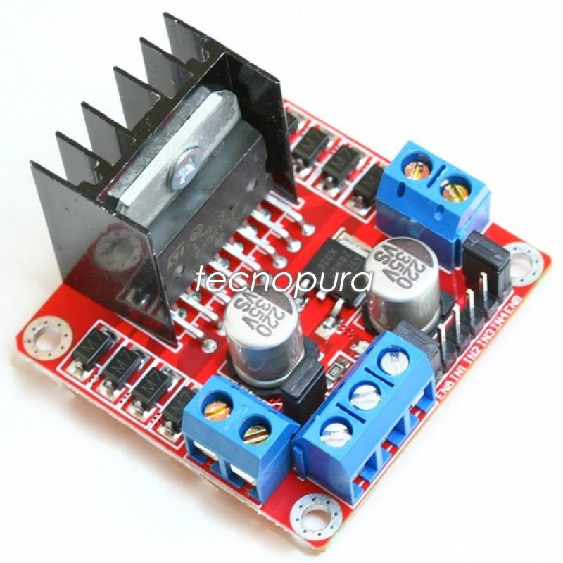Módulo l n driver control motor puente h arduino