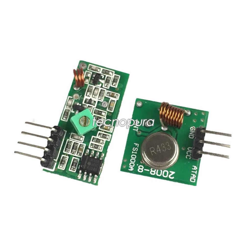 Módulo Radiofrecuencia Rf 433 Mhz Transmisor Receptor Para