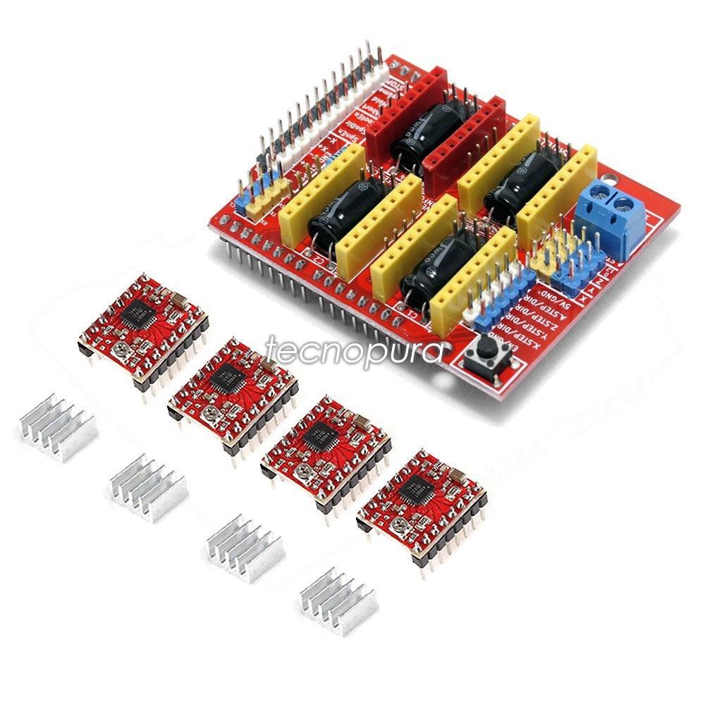Módulo Shield Cnc V3 4x Driver A4988 Kit Máquina Cnc Arduino