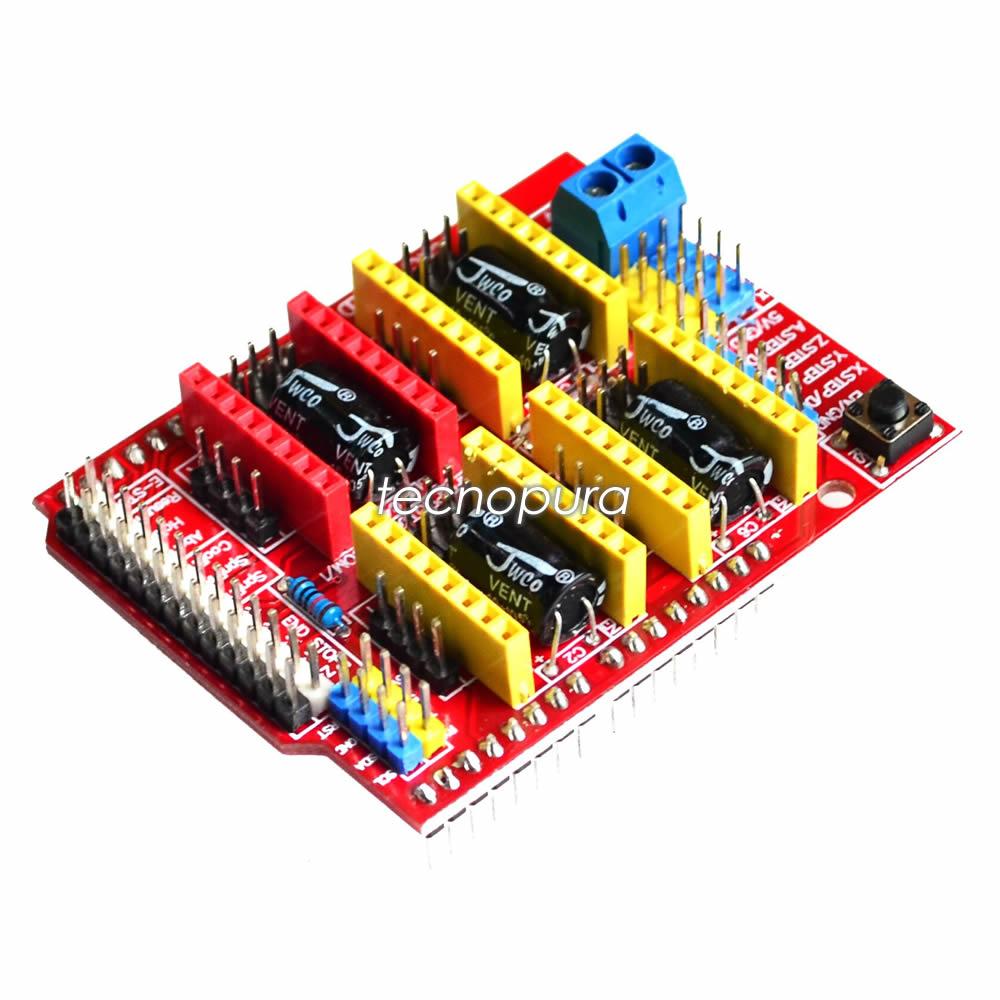 Módulo shield cnc v grbl arduino máquina