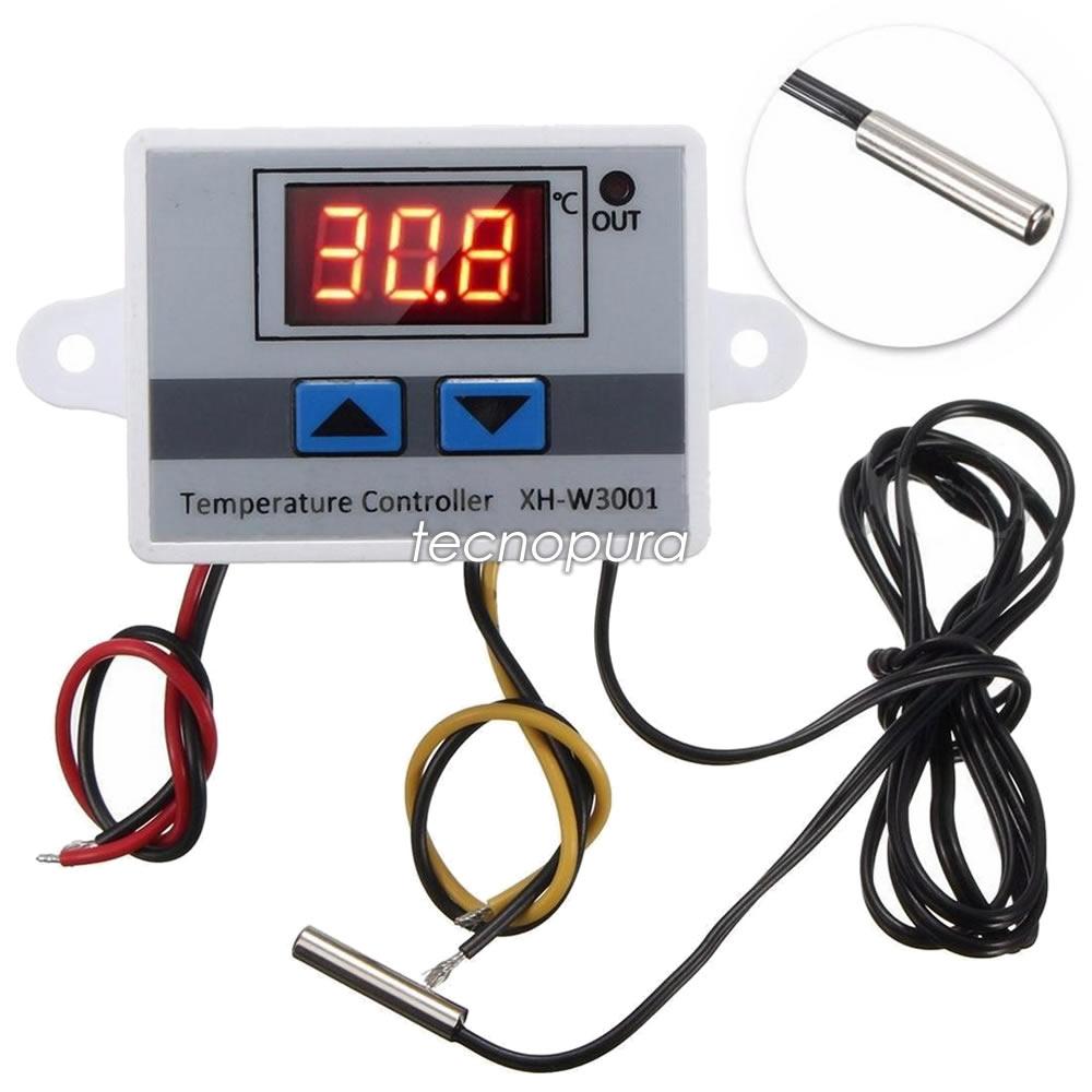 Termostato Digital 110v Ref W3001 Sonda Para Control De Temperatura Tecnopura